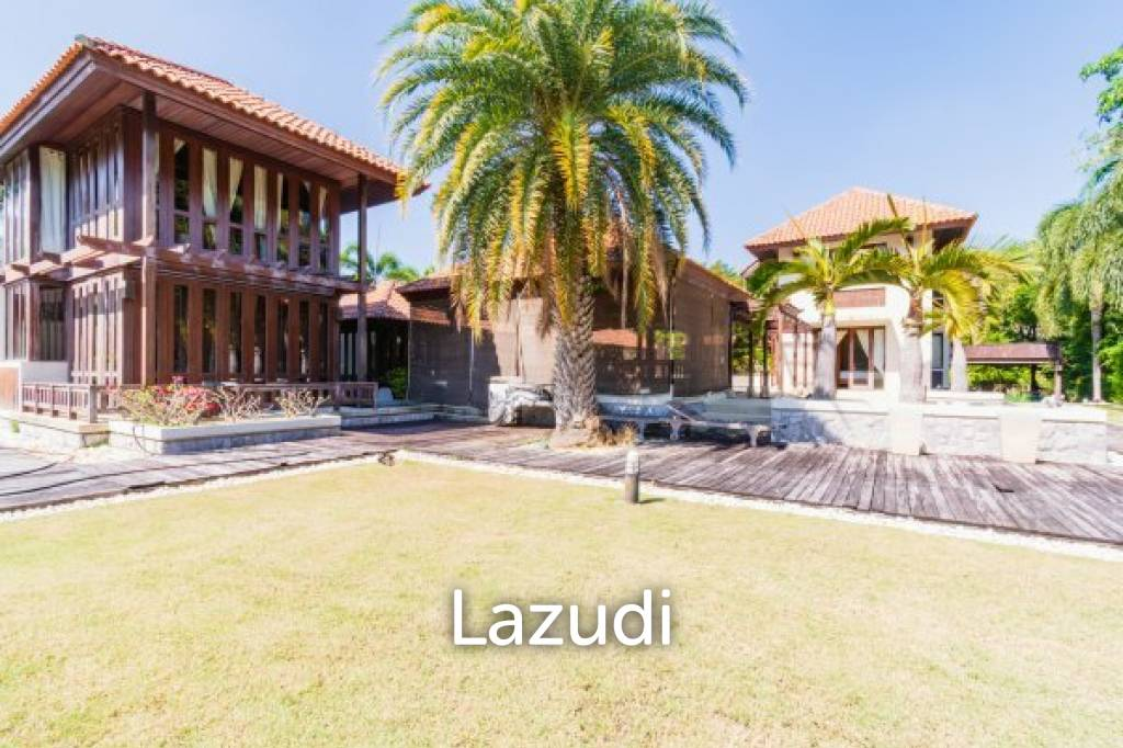 PALM HILLS RESIDENCES : Well designed Bali Style 3 Bed pool Villa on Golf Course