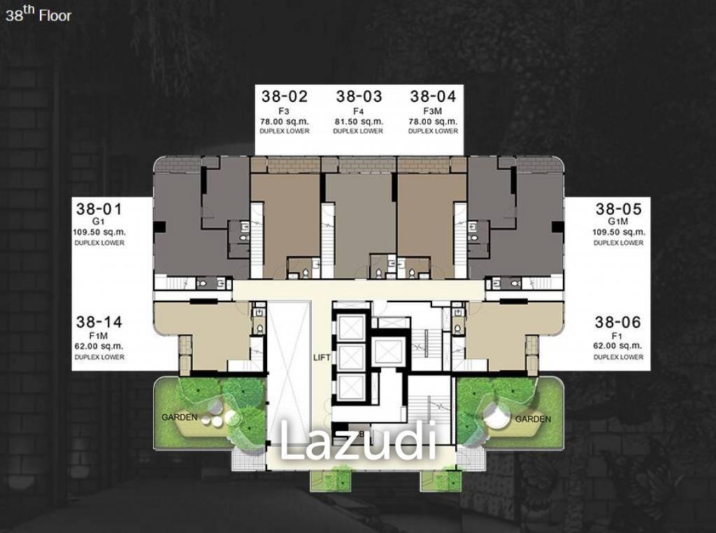 Q Chidlom Petchaburi 2 bedroom duplex condo for sale and rent