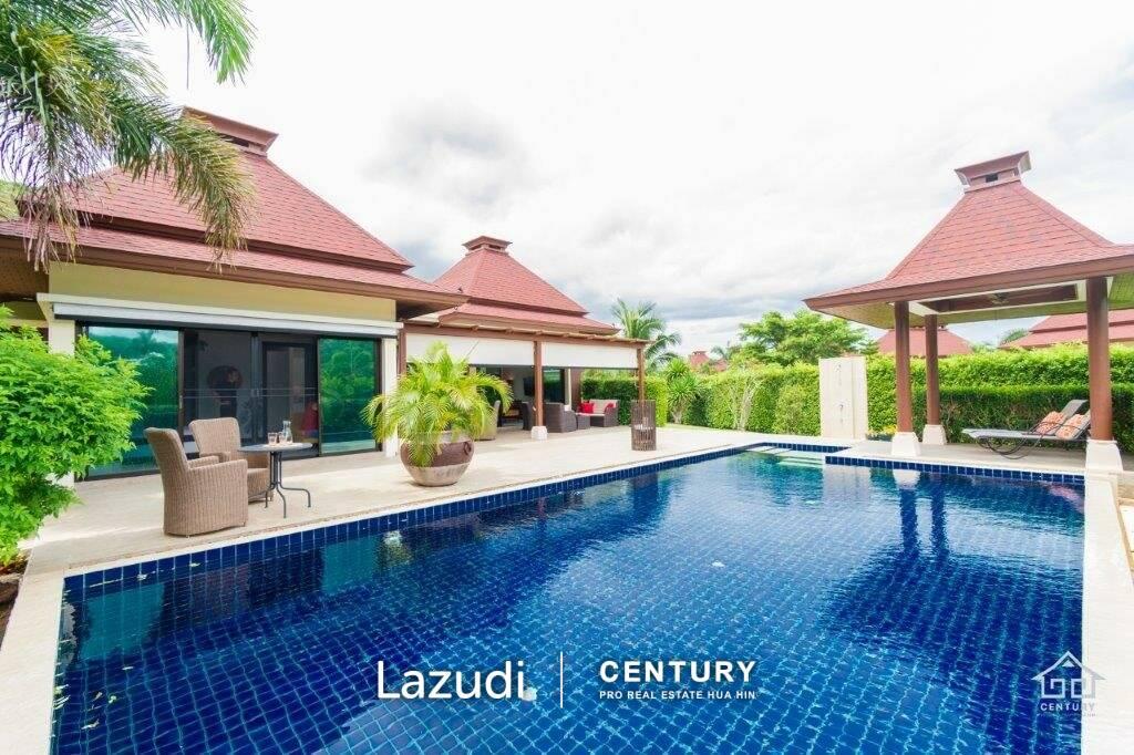 PANORAMA POOL VILLAS : Very well presented 2 bed pool villa on spacious corner plot