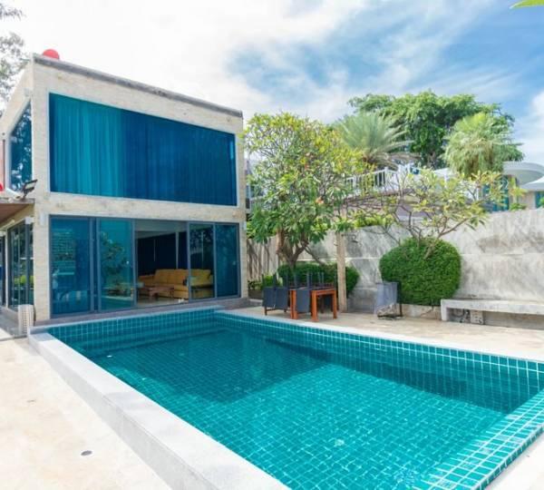Absolute beachfront Pool villa near Khao Kalok