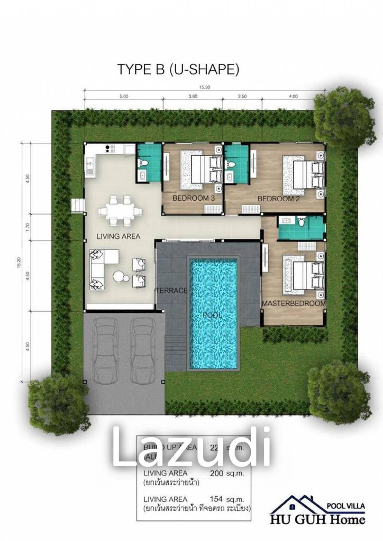 3 bed 225SQM Huguh Home Pool Villa Cha-Am